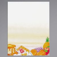 8 1/2 inch x 11 inch Menu Paper - Breakfast Themed Rooster Design Right Insert - 100/Pack