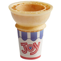 JOY #10 Flat Bottom Jacketed Cake Cone - 720/Case