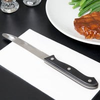 4 3/4 inch Jumbo Stainless Steel Steak Knife with Riveted Handle - 12/Case