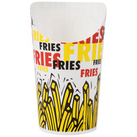 Solo GSP55-83013 7.5 oz. Paper French Fry Scoop Cup - 1000/Case