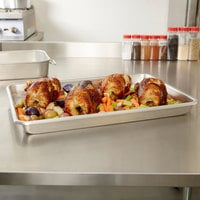 Vollrath 68357 Wear-Ever 15 Qt. Aluminum Baking and Roasting Pan - 25 3/4 inch x 17 3/4 inch x 2 1/4 inch