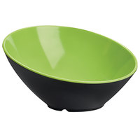 GET B-792-G/BK Brasilia 24 oz. Green and Black Slanted Melamine Bowl