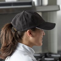 Chef Revival Black Custom Embroidered 6-Panel Baseball / Chef Cap