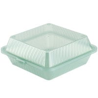 GET EC-10 9 inch x 9 inch x 3 1/2 inch Jade Green Customizable Reusable Eco-Takeouts Container - 12/Case