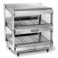 Nemco 6480-24S Stainless Steel 24 inch Slanted Double Shelf Merchandiser - 120V