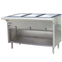 Eagle Group HT3OBE Spec Master Series Electric Steam Table with Enclosed Base 2250W - Three Pan - Open Well, 240V