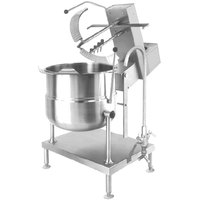Cleveland MKDT-20-T 20 Gallon Tilting 2/3 Steam Jacketed Direct Steam Mixer Kettle - 120V