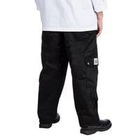 Chef Revival Unisex Black Chef Cargo Pants - Extra Small