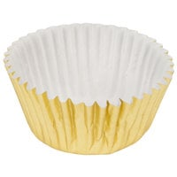 Ateco 6401 1 inch x 3/4 inch Gold Baking Cups - 200/Box