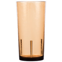 Cambro D24609 Del Mar 24 oz. Light Amber Customizable SAN Plastic Tumbler - 36/Case