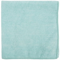 Carlisle 3633409 16 inch x 16 inch Green Terry Microfiber Cleaning Cloth - 12/Case