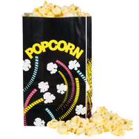 Bagcraft Packaging 300447 4 1/4 inch x 2 1/2 inch x 6 3/4 inch 32 oz. Funburst Design Popcorn Bag - 1000/Case