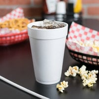 Dart 16J16 16 oz. Customizable White Foam Cup - 1000/Case