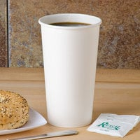 Solo 420W-2050 20 oz. White Poly Paper Hot Cup - 600/Case