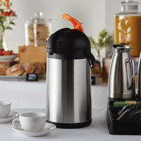 Choice 3.5 Liter Stainless Steel Lined Decaf Airpot with Lever