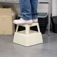 Continental 523TN 13 inch Beige Mobile Step Stool