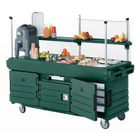 Cambro KVC856519 CamKiosk Green Vending Cart with 6 Pan Wells
