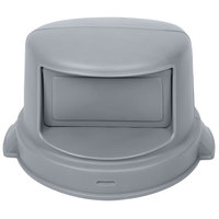 Continental 3232GY 32 Gallon Gray Round Dome Lid for Huskee and Lavex Trash Cans