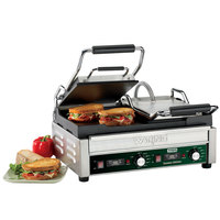 Waring WFG300T Tostato Ottimo Smooth Top & Bottom Dual Panini Sandwich Grill with Timer - 17 inch x 9 1/4 inch Cooking Surface - 240V, 3120W