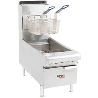 APW Wyott APW-F15C NAT Natural Gas 15 lb. Countertop Fryer - 40,000 BTU