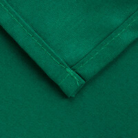 Intedge 72 inch x 120 inch Rectangular Green Hemmed Polyspun Cloth Table Cover