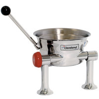 Cleveland KDT-1-T 80 oz. Tilting 2/3 Steam Jacketed Direct Steam Tabletop Oyster Kettle - Right Handle