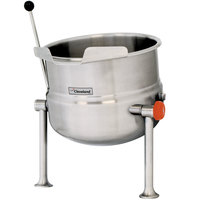 Cleveland KDT-3-T 3 Gallon Tilting 2/3 Steam Jacketed Tabletop Direct Steam Kettle - Right Handle