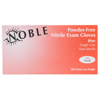 Noble Products Nitrile 4 Mil Thick Powder-Free Textured Gloves - Small - Case of 1000 (10 Boxes of 100)