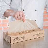 Bagcraft Packaging 016012 12 inch x 10 3/4 inch EcoCraft Interfolded Deli Wrap - Case of 6000 (12 Boxes of 500)