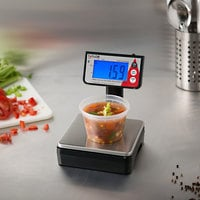 Taylor TE10T 10 lb. Digital Portion Control Scale with Tower Readout for Dry and Liquid Measuring