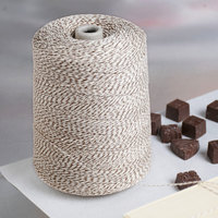 Brown and White Variegated Polyester Cotton Blend Baker's Twine 2 lb. Cone