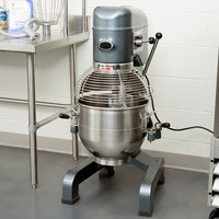 Avantco MX30 30 Qt. Gear-Driven Commercial Planetary Floor Mixer with Stainless Steel Bowl Guard - 120V, 1 3/4 hp