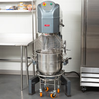 Avantco MX60 60 Qt. Gear-Driven Commercial Planetary Floor Mixer with Stainless Steel Bowl Guard - 240V, 2 1/2 hp