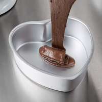 Wilton 2105-600 Decorator Preferred 6 inch x 2 inch Aluminum Heart-Shaped Cake Pan