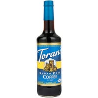 Torani 750 mL Sugar Free Coffee Flavoring Syrup