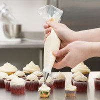 Ateco 4712 12 inch High-Grip Clear Disposable Pastry Bags - 100/Roll