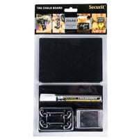 American Metalcraft TAGA6WT 6 inch x 4 inch Mini Chalk Cards and Marker Display Kit - 20/Pack