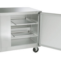 Traulsen ULT48-LR-SB 48 inch Undercounter Freezer with Left and Right Hinged Doors and Stainless Steel Back