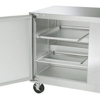 Traulsen ULT48-LL-SB 48 inch Undercounter Freezer with Left Hinged Doors and Stainless Steel Back
