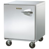 Traulsen ULT27-L-SB 27 inch Undercounter Freezer with Left Hinged Door and Stainless Steel Back