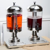 Choice 4.2 Gallon Stainless Steel and Polycarbonate Double Beverage Dispenser