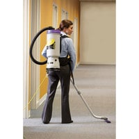 ProTeam 107119 10 Qt. Super CoachVac HEPA Backpack Vacuum Cleaner with 107100 Xover Floor Tool Kit D - 120V