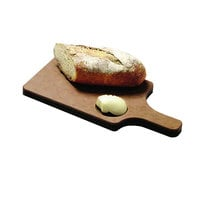 San Jamar TC7503 8 1/2 inch x 6 1/2 inch x 3/4 inch Tuff-Cut Bread Board with Handle and Butter Well