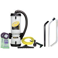 ProTeam 100280 10 Qt. LineVacer Backpack Vacuum Cleaner with ULPA filtration and 100163 High Filtration Vac Kit - 120V