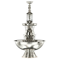 Apex 4051-1W-05-SS Aristocrat Starlight Band 10 Gallon SS Beverage Fountain with Silver Bow Tie Trim, Statue & Waterfall Set