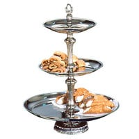 "Apex ATV18-1412-S Atlantis Series Three Tier Food Tray with Silver Column - 24"" High"