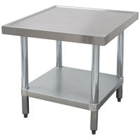Advance Tabco MT-GL-300 30 inch x 30 inch Stainless Steel Mixer Table with Galvanized Undershelf