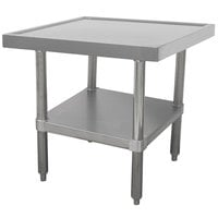 Advance Tabco MT-SS-303 30 inch x 36 inch Stainless Steel Mixer Table with Undershelf