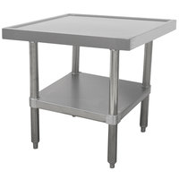 Advance Tabco MT-SS-363 36 inch x 36 inch Stainless Steel Mixer Table with Undershelf