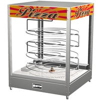 Doyon DRPR4 22 3/8 inch Countertop Hot Food Merchandiser / Warmer with Four Tiered 20 inch Rotating Circle Rack - 120V